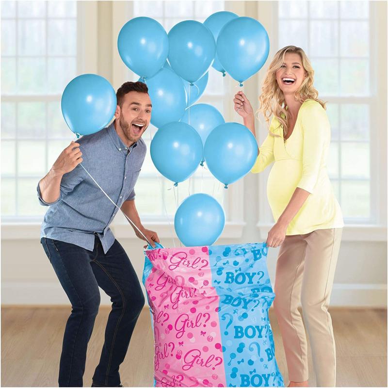 Gender Reveal Surprise Bag XL met ballonnen