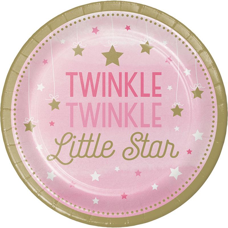 """""""Twinkle Twinkle Little Star"""" Girl lunch bordjes"""