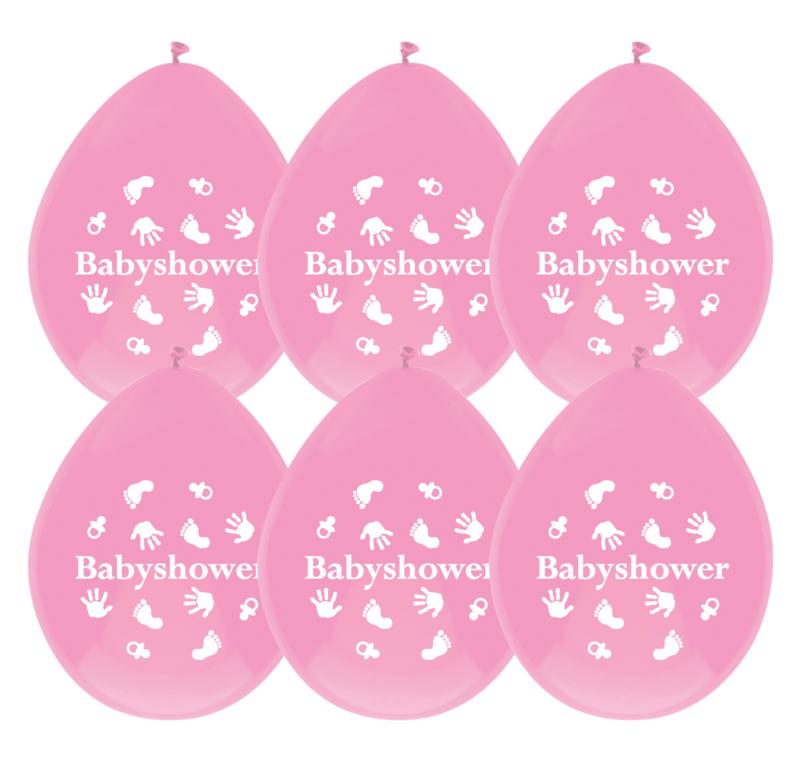 """""""Babyshower Pink"""" ballonnen"""
