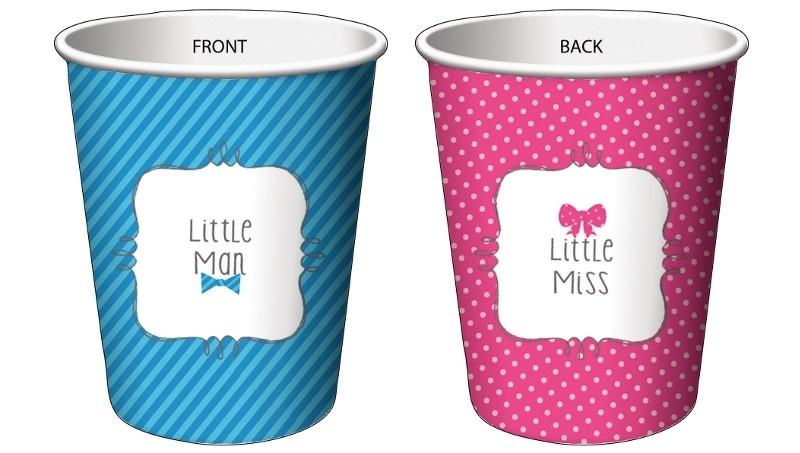 """""""Little Man or Little Miss"""" drinkbekers"""