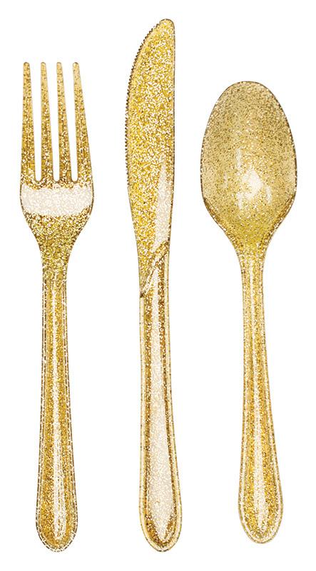 """""""Glittering Gold"""" bestekset 24 delig"""