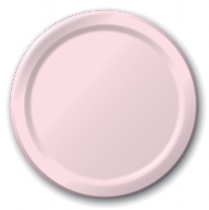 """""""Baby Pink"""" gebak bordjes"""