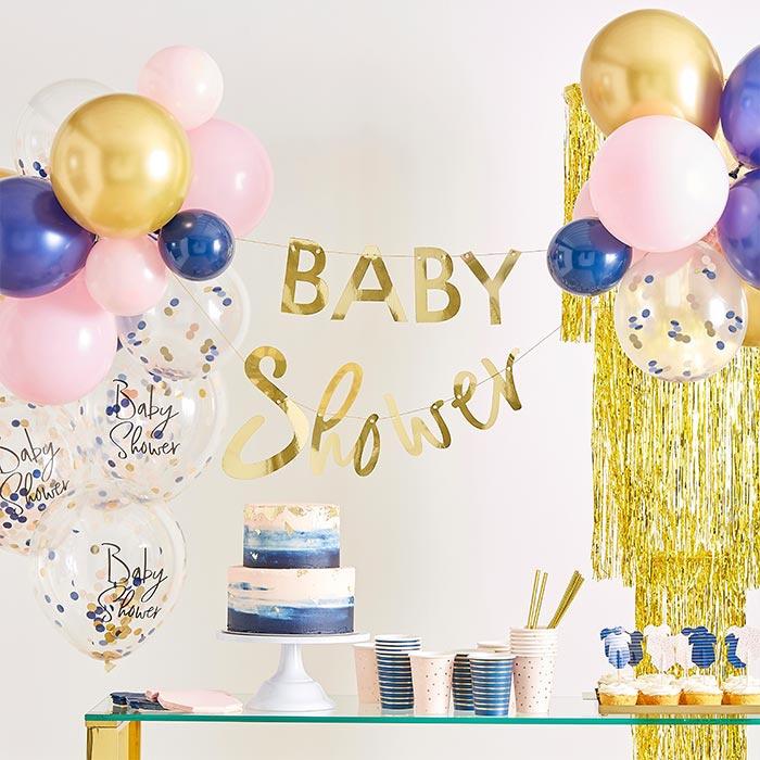 "Baby Shower slinger met ballonnen ""My Gender Reveal Party"""
