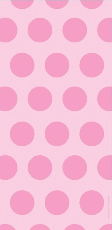 """""""Baby Pink Polkadot"""" plastic uitdeel zakje"""