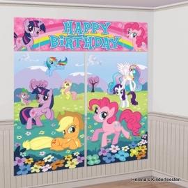 """My Little Pony / party """"happy birthday""""muur decoratie"""