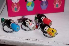 Sleutelhanger - Kokeshi popje klein