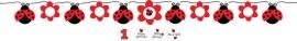 Lieveheersbeestje / kinderfeest / wenslijn met stickers