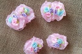 Haarklemmetjes /  Roze met 3 kleuren
