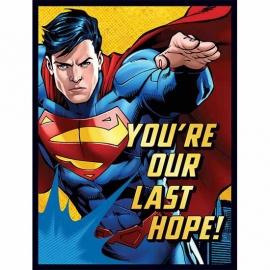Superman / kinderfeest uitnodigingen