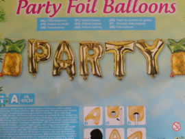 """Folie ballon slinger """"party""""met ananas"""