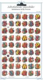 ME 8091 Poezie plaatjes stickers Alfabet