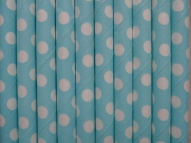 Rietjes / Papieren / licht blauw met stippen 62461
