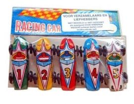 Mini blikken race autootjes / set 5stk