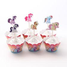Cupcake wikkel & prikkers / my little pony / 6 stk