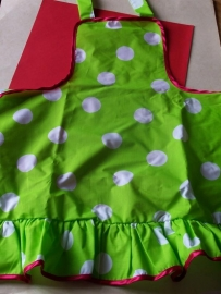 Kinderschort / flamingo polkadot lime
