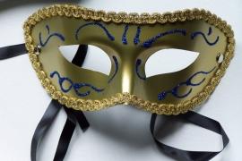 AG Masker goud met glitters