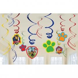 Paw Patrol / kinderfeest Hangdraai decoratie