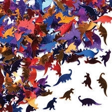 Confetti / dinosaurs