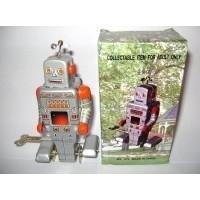 Robot / met propeller zilver / blikkenspeelgoed