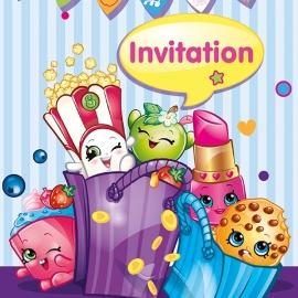 Shopkins / uitnodigingen / kinderfeest