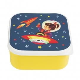 Lunchdoosje -Retropace vierkant geel