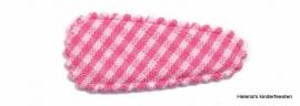 Haarkniphoesje | roze-wit geruit 3 cm