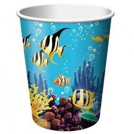 GR Oceaan onder water bekers