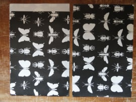Vlakke kado zakken Insecten Zwart / 17x25 cm / 5 stk