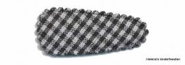 Haarkniphoesje | zwart-wit geruit 3 cm