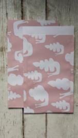 Vlakke Zakjes / snail pink / 12 x19 cm /5stk