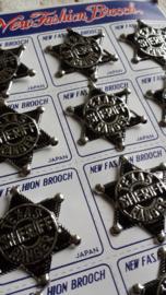 Sheriff ster | broche | per stuk