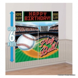 PP Honkbal / Baseball muurdecoratie