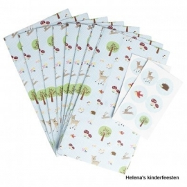 Zakjes |  Woodland hertje | met stickers