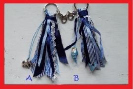 TI Lintjes sleutelhanger blauw