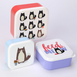 Lunchboxen set / Feline Fine Cat