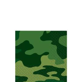Camouflage leger / feest servetten