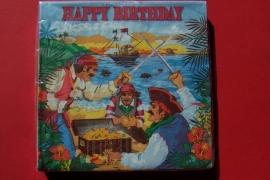 Piraten / feest servetten / schatten eiland