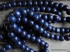 UT Houten kraal / donker blauw 10mm