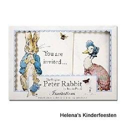 Peter Rabbit / kinderfeest Uitnodigingen