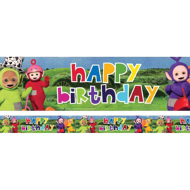 PS Teletubbies feest Happ Brthday foil Banner