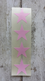 Stickers / ster roze / 35mm / 20 stk