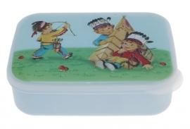 Lunchtrommel - Indianen blauw