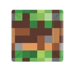 Minecraft kinderfeest gebaksbordjes / 8stk