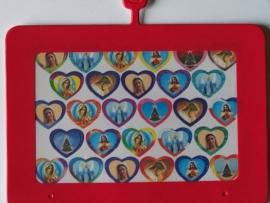 Stickers - hartjes met maria