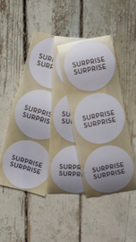 Stickers / SURPRICE SURPRICE - WIT GOUD / 20 stk