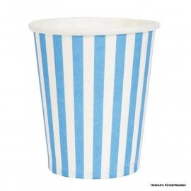 Bekers  / blauw gestreept