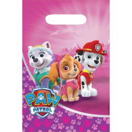 Pink Paw Patrol / kinderfeest zakjes