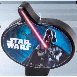 Star Wars  - Darth Vader - taart Kaars