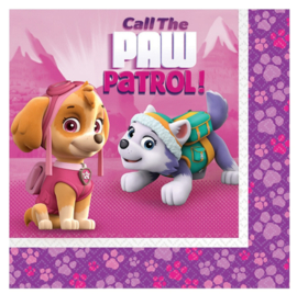 Pink Paw Patrol servetten / lunch kinderfeest