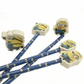 Potlood met gum / Minions Despicable / pstk